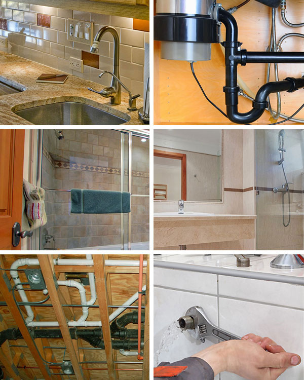 Artistic Plumbing Collage